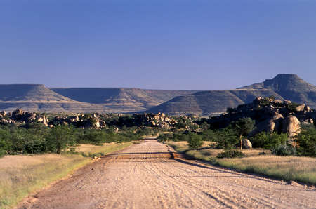 panoramic view of the kunene or kaokoland region Stock Photo