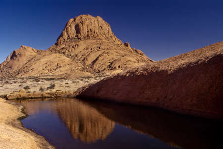 mountain formation of spitzkoppe, namibia, africa