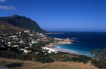 Panoramic view of Llandudno Bay, Western Cape, South Africa Standard-Bild