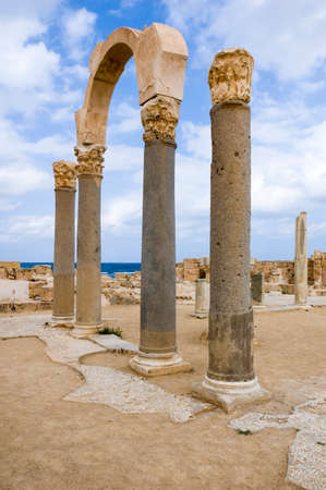 Archaeological Site of Sabratha, Libya - 10312006:  Overview of the Forum in the ancient Phoenician city of Sabratha