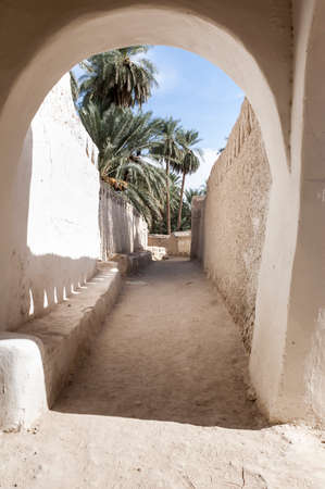 the ancient white city of Ghadames, Libya, Africa