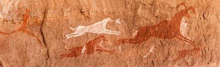 Pétroglyphes préhistoriques - Art rupestre - Montagnes Akakus (Acacus), Sahara, Libye