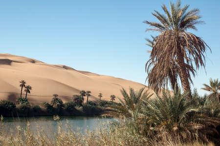 Oasi Ubari nel deserto del Sahara, Fezzan, Libia, Africa