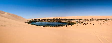 Ubari oasi in the Sahara desert, Fezzan, Libya, Africa Stok Fotoğraf - 116616574