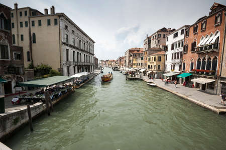 View of one of the canals in the Cannareggio district in Venice