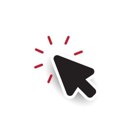 Arrow pointer isolated icon, cursor symbol