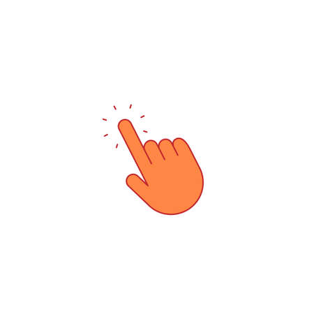 Clicking hand, thin line icon