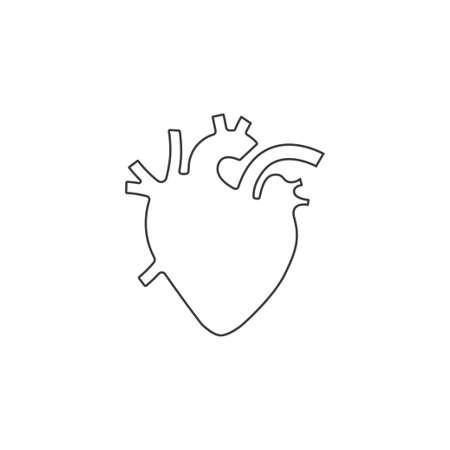 Menselijke hart vectorillustratie, schetsontwerp Stock Illustratie