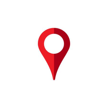 Location icon, map pin mark, gps destination symbol  イラスト・ベクター素材