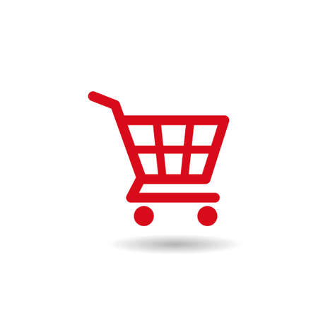 Shopping cart icon, e-commerce symbol