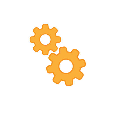 Cogwheel icon, gears pictogram vector Ilustração