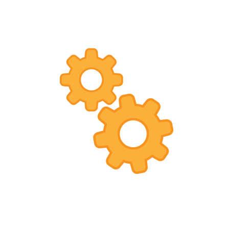 Cogwheel icon, gears pictogram vector Stock Illustratie