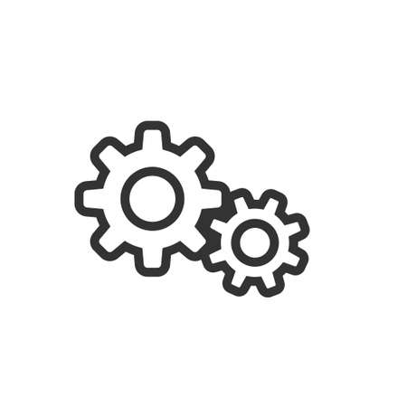 settings icon, gears mechanism pictogram