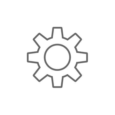 Gear vector icon, settings symbol Stock Illustratie