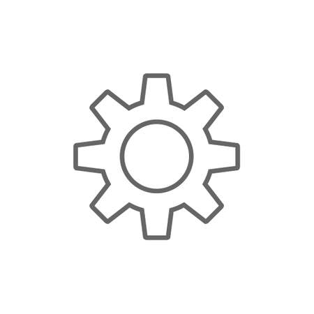 Gear vector icon, settings symbol Illustration