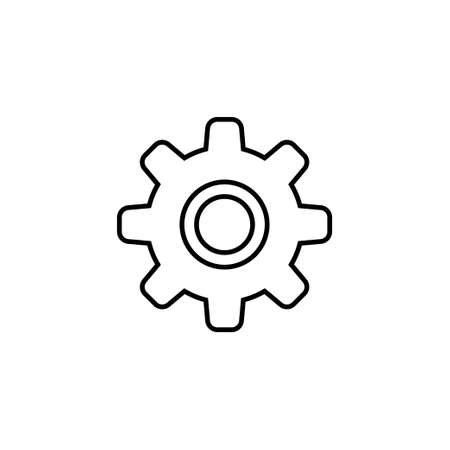 Gear and settings icon symbol, outline vector