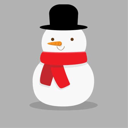 Snowman illustration. Illustration