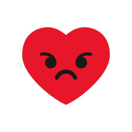 Angry heart emoticon.