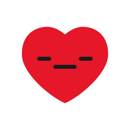 Boring heart emoticon