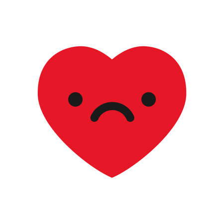 Sad heart emoji illustration.