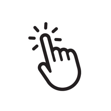 Hand clicking vector icon.