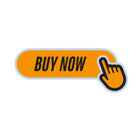 Click button with hand icon. Buy Now