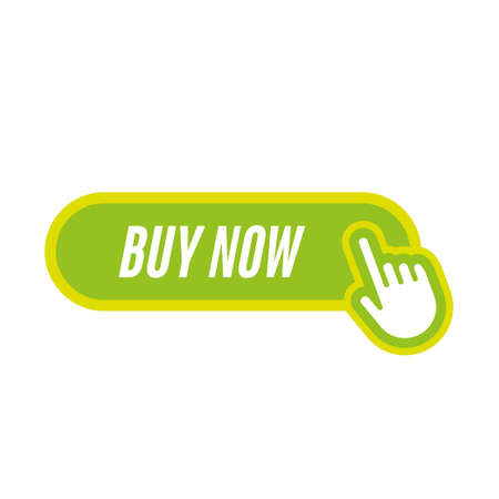 buy now icon with hand Фото со стока - 100894373