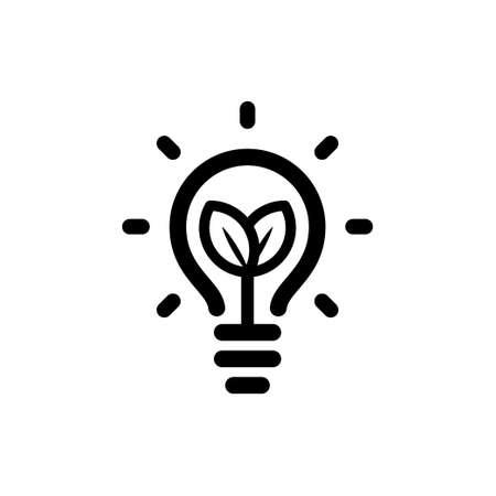 Lamp ecological leaf Vector illustration. 일러스트