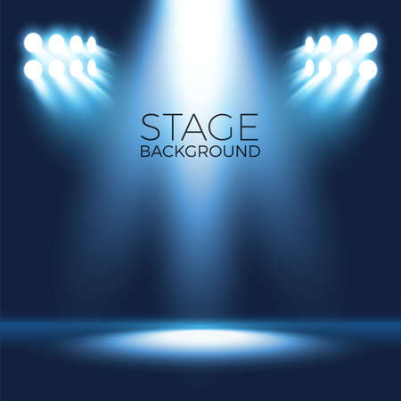 Spotlight shining on empty stage, scenario background
