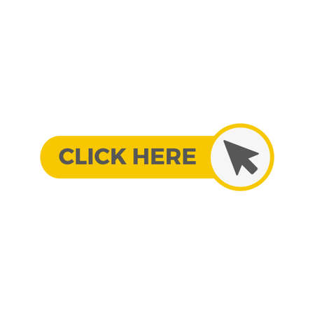 Click here button with arrow pointer icon Illustration