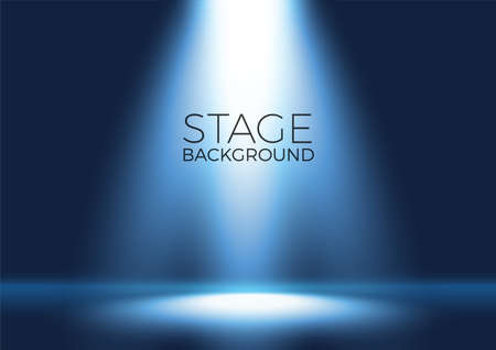 Spotlight shining on empty stage background Ilustração