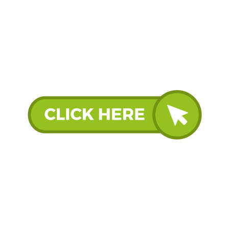 Click here button with arrow pointer icon Vector illustration. Illusztráció