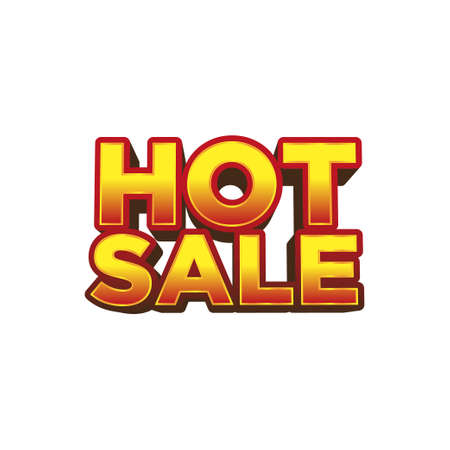 Hot sale in 3d yellow and red typography, element design for special offer banner