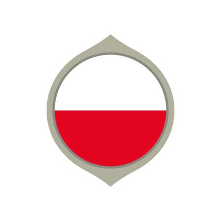Circle flag of Poland