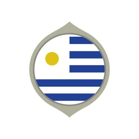 Circle flag of Uruguay Иллюстрация