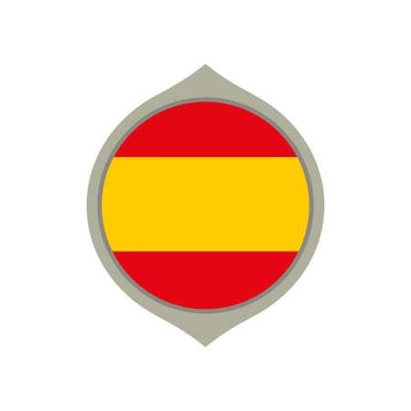 Circle flag of Spain