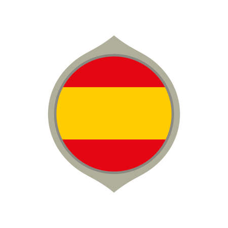 Circle flag of Spain