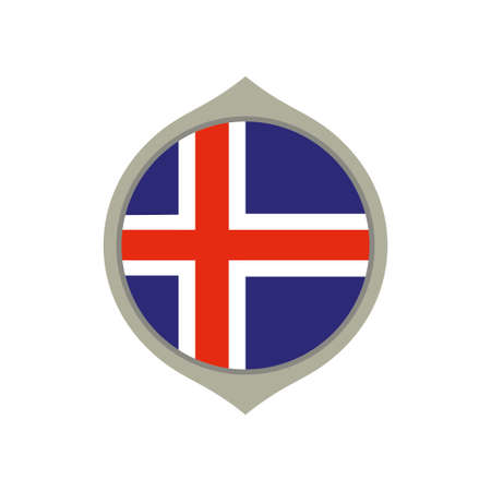 Circle flag of Iceland Illustration