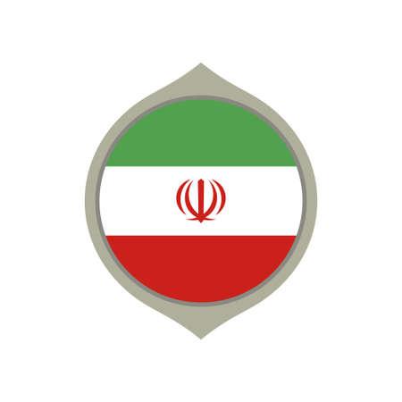 Circle flag of Iran