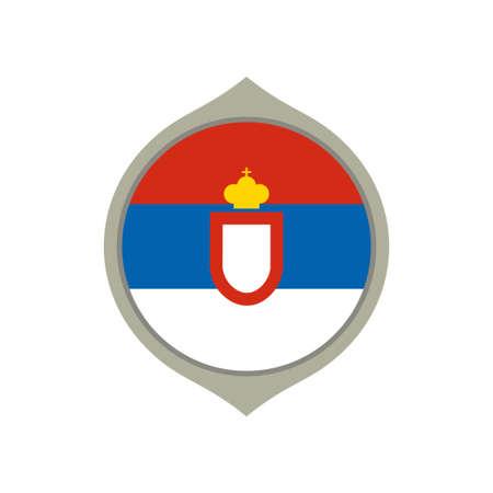 Circle flag of Serbia