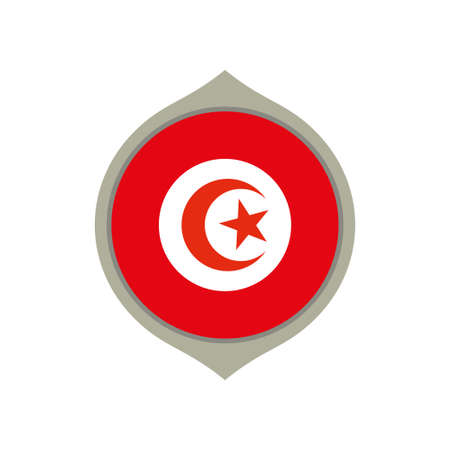 Circle flag of Tunisia Banque d'images - 101615234