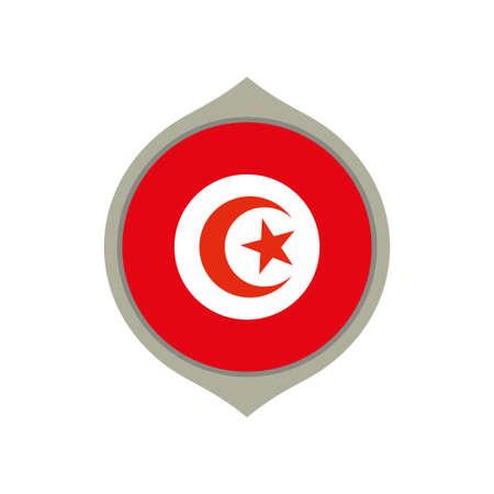 Circle flag of Tunisia