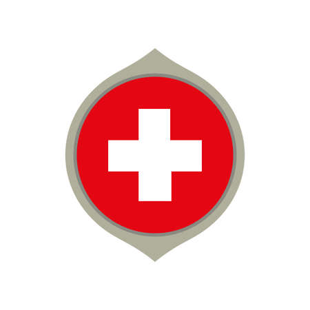 Circle flag of Switzerland