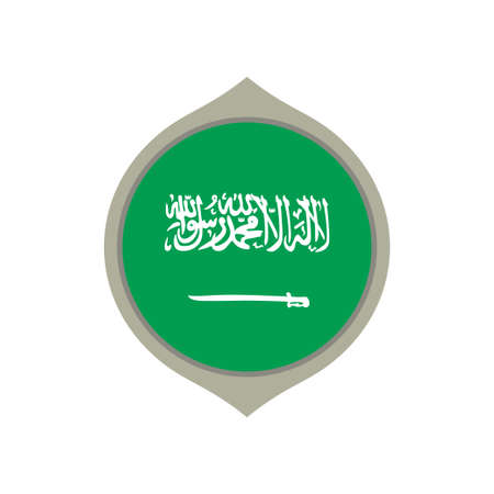 Circle flag of Saudi Arabia