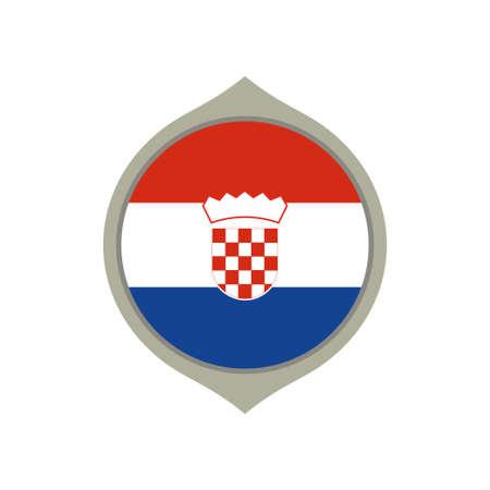 Circle flag of Croatia