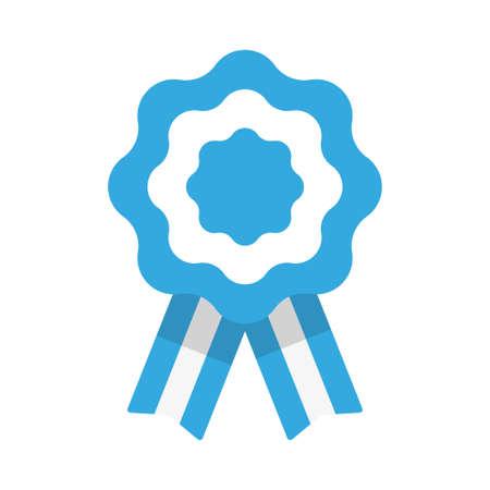 Badge with ribbons, rosette, Argentina flag, vector illustration Illustration