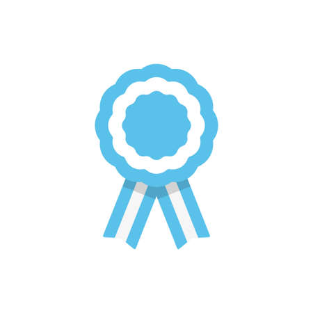 Badge with ribbons, rosette, Argentina flag, vector illustration Vectores