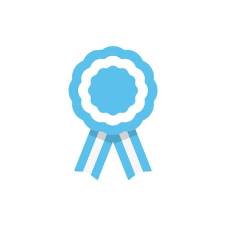 Insignia con cintas, roseta, bandera Argentina, ilustración vectorial