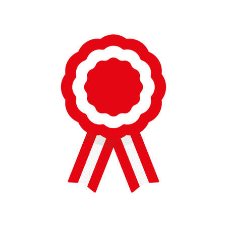 Cockade, rosette with ribbon, vector illustration 일러스트