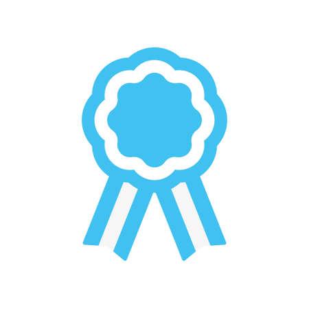 Argentina cockade, rosette with ribbon, vector illustration Illustration